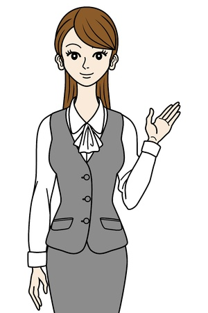 woman business suit: Office Lady guide Illustration