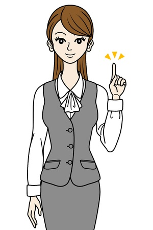 Office Lady, point Stock Vector - 16298613