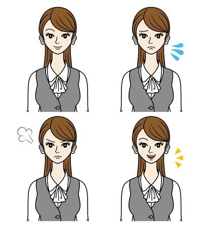 impatient: Office Lady visages Divers Illustration