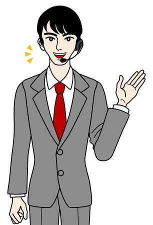 telephone switchboard: Male Operator ,guide, speaking