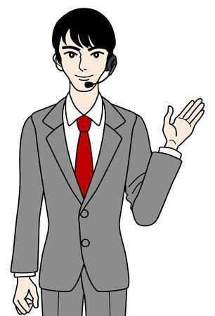 Male Operator ,guide Stock Vector - 16298683