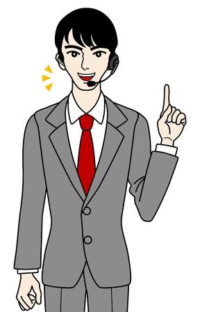 switchboard operator: Male Operator point, speaking