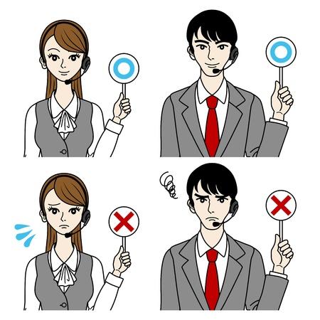 standardiste: Op�rateur correct et sans erreur les hommes et les femmes-