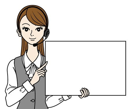 switchboard: Operator with white board, Bust up