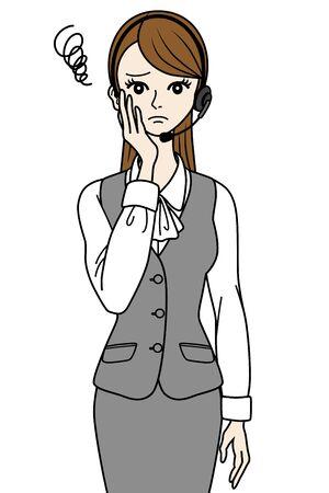 switchboard operator: Sullen Operator Illustration