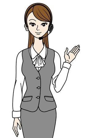 Female operator guide Stock Vector - 16298630