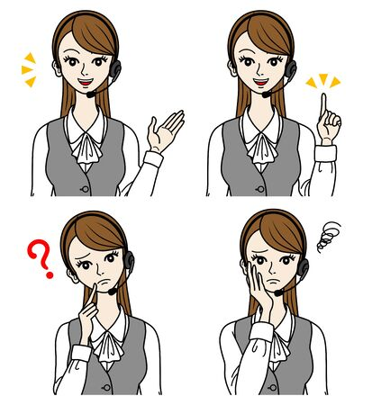 Female Operator, question and guide Stock Vector - 16298593