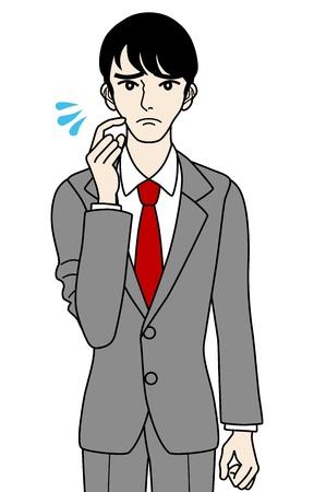 impatient: Homme d'affaires en difficult�