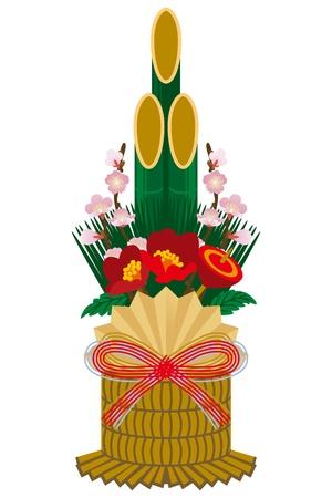 Japanese Pine decoration 일러스트