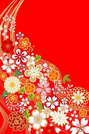 diseño de flores, estilo japonés