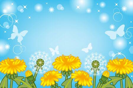 Dandelion bloom in Sunny sky Stock Vector - 16821789