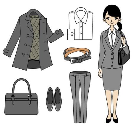 white blouse: Mujer de negocios joven y Punto conjunto Vectores