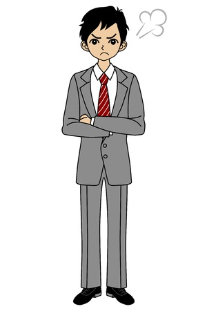 discontent: Angry businessman