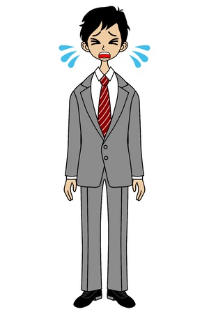 job hunting: Crying Businessman