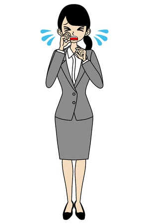 job hunting: Crying Businesswoman