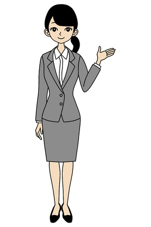 job hunting: Businesswoman Guide Illustration