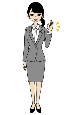 job hunting: Businesswoman OK sign