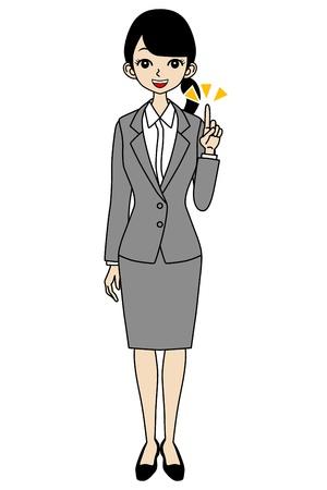 Businesswoman, Point Stock Vector - 17255212