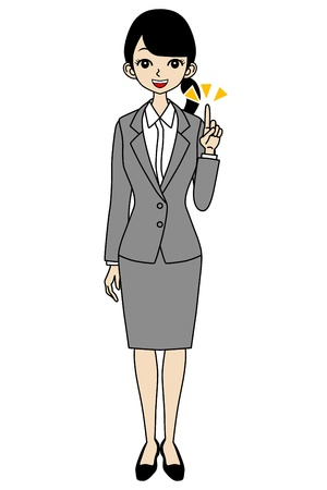 Businesswoman, Point Stock Vector - 17255212