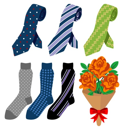 Necktie and socks, Father s Day gift Vector