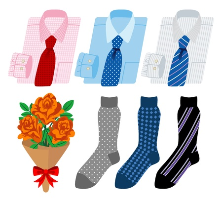 business shirt and socks, Father s Day gift Vector