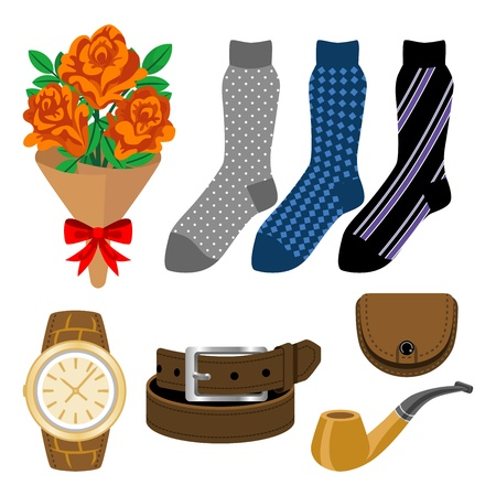 Socks and Accessories, Father s Day gift Vector