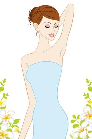 女性腋下,護膚圖像