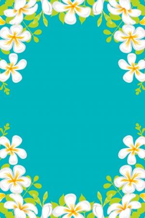 Tropical Flower frame Stock Vector - 19663929