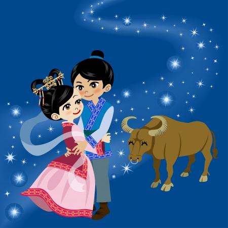 Tanabata Legend, Milchstraße und Paare