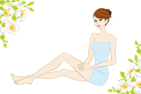 female legs: Beauty image about leg, Woman and flowers