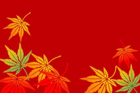 Maple background,Horizontal Vector