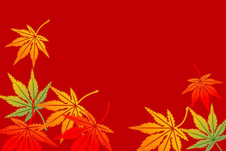 japanese maple: Maple background,Horizontal Illustration