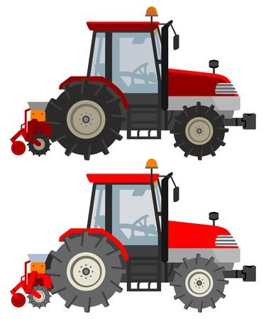 農業用トラクター  イラスト・ベクター素材