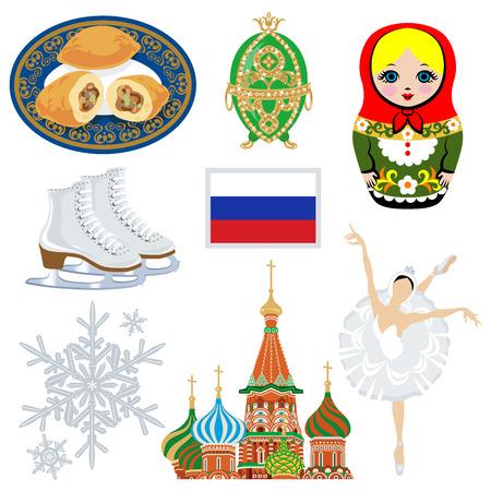 tourism russia: Russian symbol set