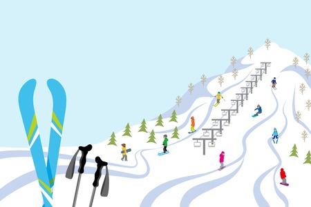 スキー スロープ、水平