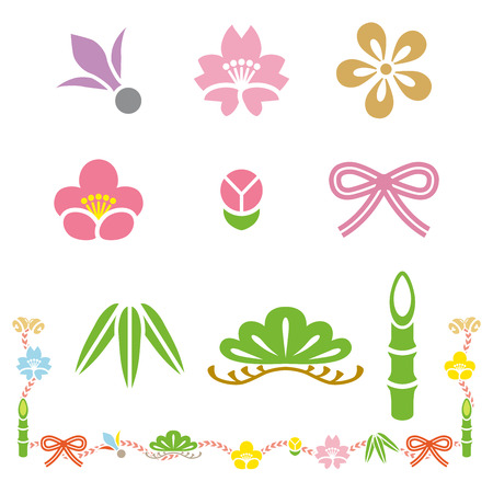 good s: Japanese Good Luck Charm, Isolated  Illustration