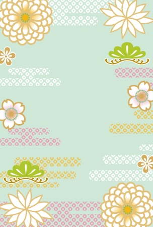 patterns japan: Japanese retro floral background
