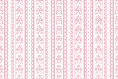 Heart Shape, Seamless Wallpaper Pattern  イラスト・ベクター素材