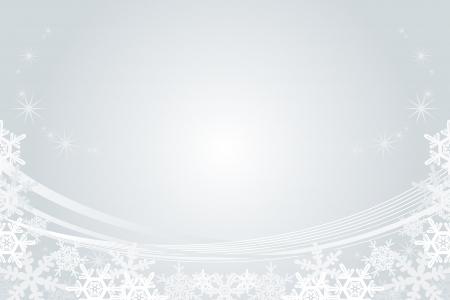 Snowflake Frame, Silver Stock Vector - 24561105