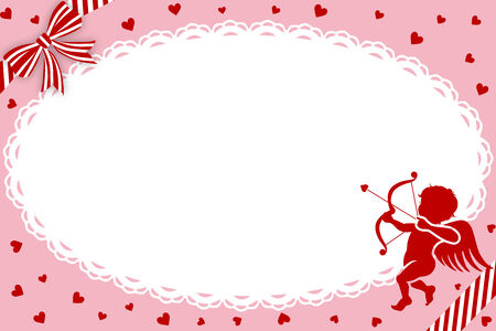 Valentine s Day Greeting Card,Cupid -EPS10 file Vector
