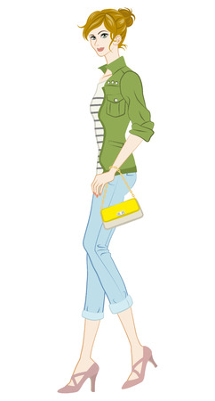 teenagers only: Women fashion, Casual Style, Full Length Illustration