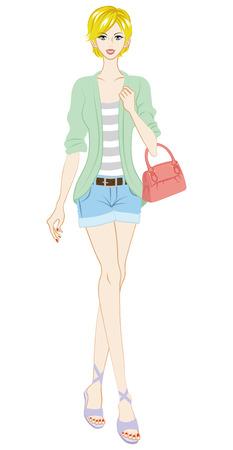 boyish: Women fashion, Hot pants, Full Length