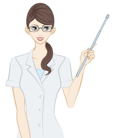 white coat: Therapist, Pointer Stick