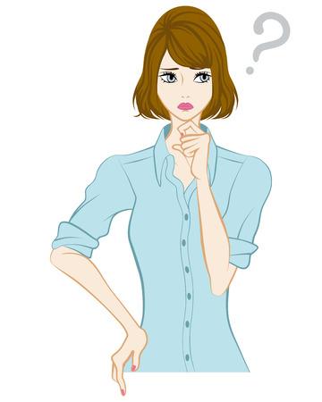 bobbed: Bobbed hair women, Question Mark