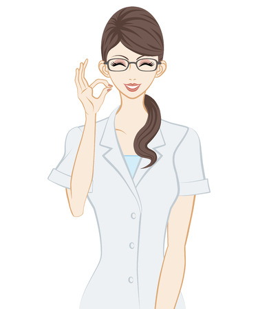 therapist: Therapist, OK Sign Illustration