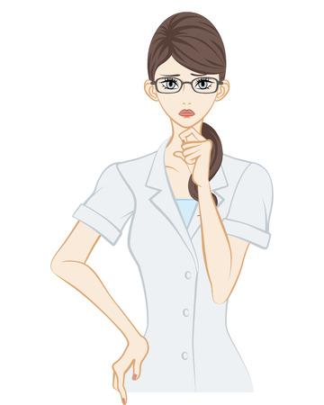 therapist: Therapist, Worried Illustration