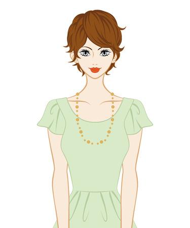 Las mujeres de pelo corto Ilustración de vector