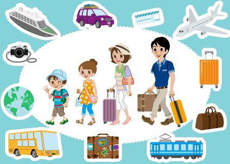 persona viajando: Set de viaje, Familia