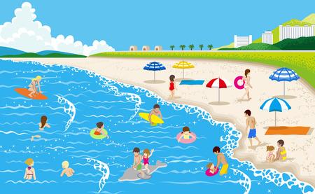 Summer beach 矢量图像