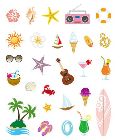 soft serve ice cream: Summer icons Illustration